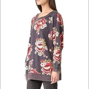 Fee People Go On Get Floral Sweatshirt